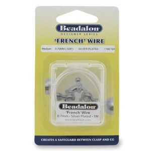 Beadalon® French Wire 0.6mm Silver Plated 1m