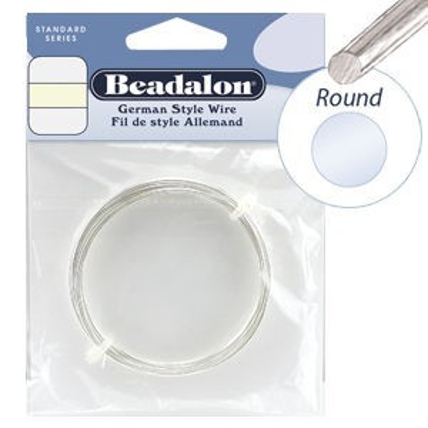 Beadalon® Round Wire Silver Plated 24ga 12m