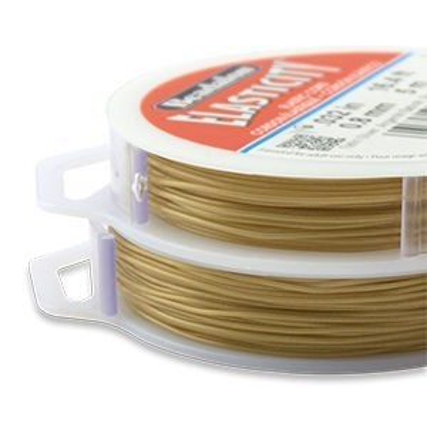 Beadalon® Elasticity 0.8mm Satin Gold 5m