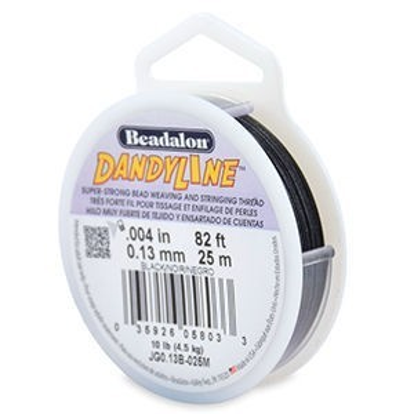 Beadalon® Dandyline 0.13mm Black 25m