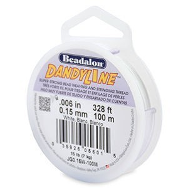 Beadalon® Dandyline 0.15mm White 100m