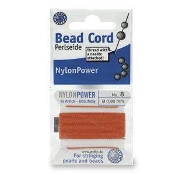 Beadalon® Polythread 04 - Coral 1card