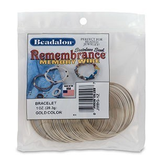 Beadalon® Memory Wire Bracelet Gold 1oz