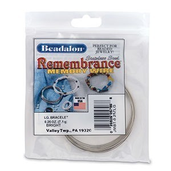 Beadalon® Memory Wire Bracelet Lg Bright 0.25oz