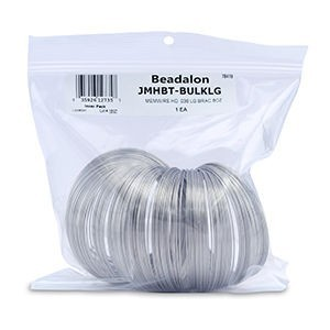 Beadalon® Remembrance Memory Wire .036in (0.91mm) Heavy Duty Rd Bracelet Lg Bright Apx 7-8oz 30coils/Oz
