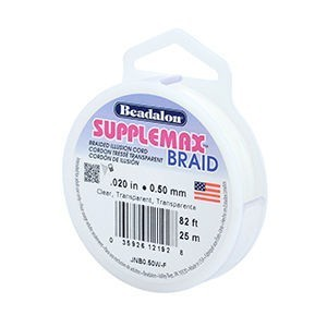 Beadalon® Supplemax Braid 0.50 Mm (.020 In) Clear 82 Ft (25 M)