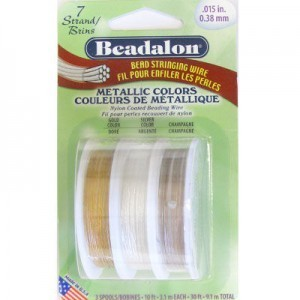 Beadalon® 7 Strand Wire .015 Inch Assorted Metallics 10ft X3