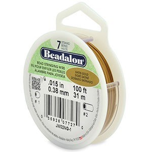 Beadalon® 7 Strand Wire .015 Inch Satin Gold 100ft