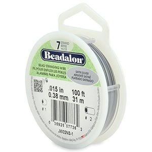 Beadalon® 7 Strand Wire .015 Inch Satin Silver 100ft