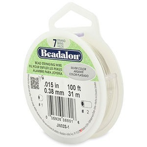 Beadalon® 7 Strand Wire .015 Inch Silver Color 100ft