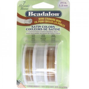 Beadalon® 7 Strand Wire .015 Inch Assorted Satins 10ft X3