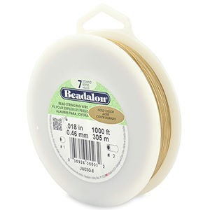 Beadalon® 7 Strand Wire .018 Inch Gold Color 1000ft