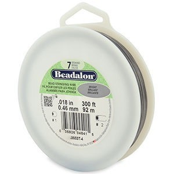 Beadalon® 7 Strand Wire .018 Inch Bright 300ft