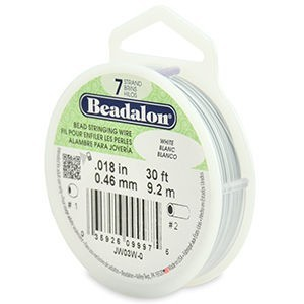 Beadalon® 7 Strand Wire .018 Inch White 30ft