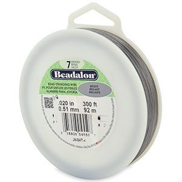 Beadalon® 7 Strand Wire .020 Inch Bright 300ft
