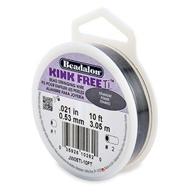 Beadalon® Kinkfree Ti .021 Inch Titanium 10ft