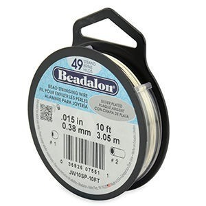Beadalon® 49 Strand Wire .015 Inch Silver Plate 10ft