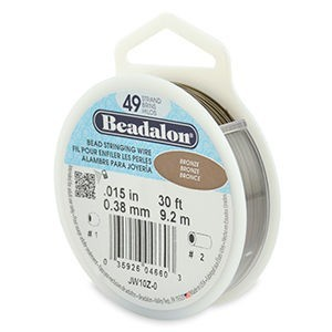 Beadalon® 49 Strand Wire .015 Inch Bronze 30ft