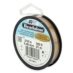 Beadalon® 49 Strand Wire .018 Inch Gold Plate 100ft