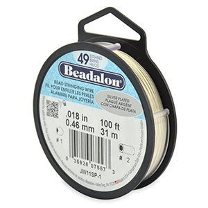 Beadalon® 49 Strand Wire .018 Inch Silver Plate 100ft