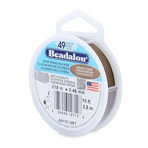 Beadalon® 49 Strand Stainless Steel Bead Stringing Wire .018in (0.46mm) Bronze 10ft (3.1m)