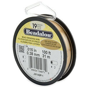 Beadalon® 19 Strand Wire .015 Inch Gold Plate 100ft