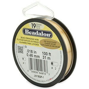 Beadalon® 19 Strand Wire .018 Inch Gold Plate 100ft