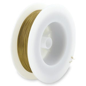 Beadalon® 19 Strand Wire .018 Inch Satin Gold 1000ft