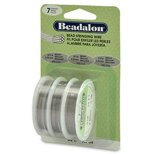 Beadalon® 7 Strand .012 .015 .018 Bright 3pk