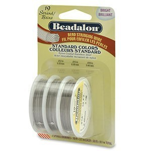 Beadalon® 19 Strand .012 .015 .018 Bright 3pk