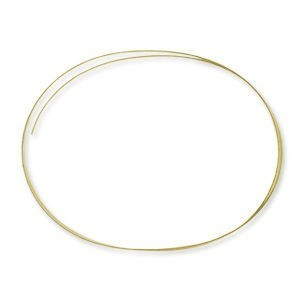 Beadalon® Memory Wire Bracelet Oval Nickel-Free Gold Plated 0.35oz