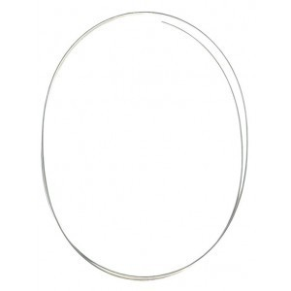 Beadalon® Memory Wire Bracelet Oval Lg Nickel-Free Silver Plated 0.35oz