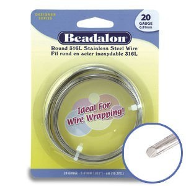 Beadalon® Round Wire 316l Stainless Steel 22ga 10m