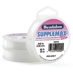 Beadalon® Supplemax Ultra 0.25mm White 25m