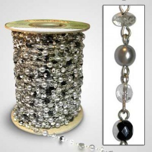 Beadlinx™ Beaded Chain Silver Scene on Silver Plate