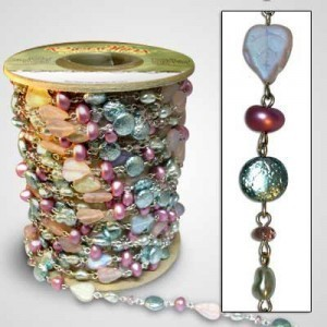 Beadlinx™ Beaded Chain Bermuda Beach on Silver Plate