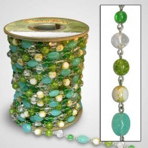 Beadlinx™ Beaded Chain Seafoam on Silver Plate