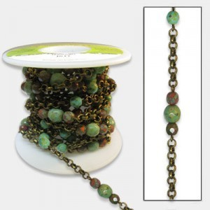 Beadlinx™ Beaded Chain Trip To Tibet on Brass Ox