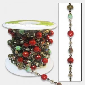 Beadlinx™ Beaded Chain Bloody Mary on Gunmetal