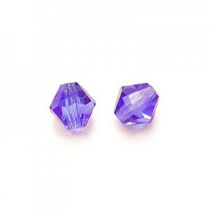 6x6mm Coated Tanzanite Czech MC Rondelles