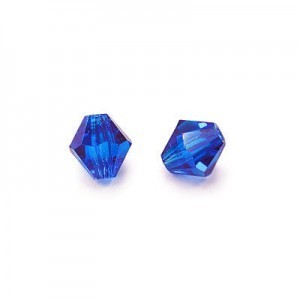 6x6mm Coated-Sapphire Col#67302 Czech MC Rondelles