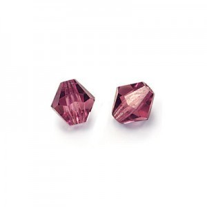 6x6mm Amethyst Czech MC Rondelles