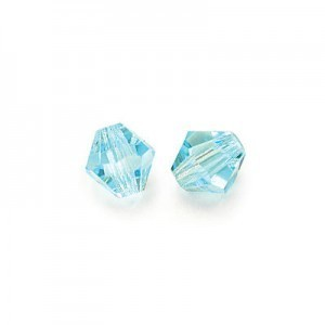 3x3mm Aqua Czech MC Rondelles