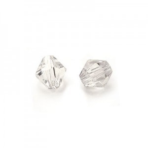 5x5mm Crystal Czech MC Rondelles