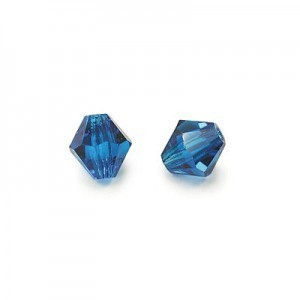 3x3mm Capri Blue Czech MC Rondelles