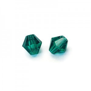 6x6mm Emerald Czech MC Rondelles