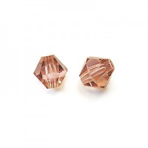 6x6mm French Rose Czech MC Rondelles