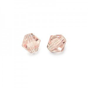 6x6mm Light Rose Czech MC Rondelles