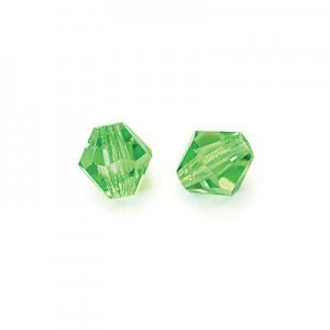 3x3mm Peridot Czech MC Rondelles
