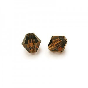 3x3mm Smoke Topaz Czech MC Rondelles